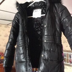 Justice winter coat. 6/7